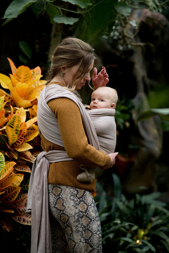 A woven sling is perfect for newborns and toddlers!
