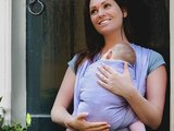 Baby sling Purple size 6 or 7_