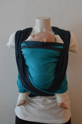 Baby Sling Dark Grey/Turquoise Double