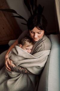 Toddler blanket Wool - Oatmeal