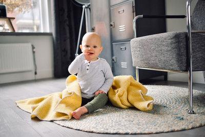 Toddler blanket Wool - yellow