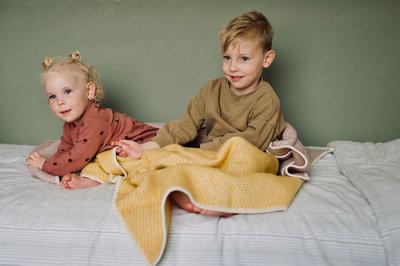 Baby blanket Wool - Yellow