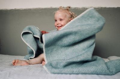 Baby blanket Wool - Petrol