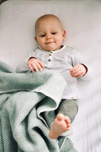 Baby blanket Wool - Ocean